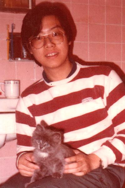 My 1st cat Barney in 1984