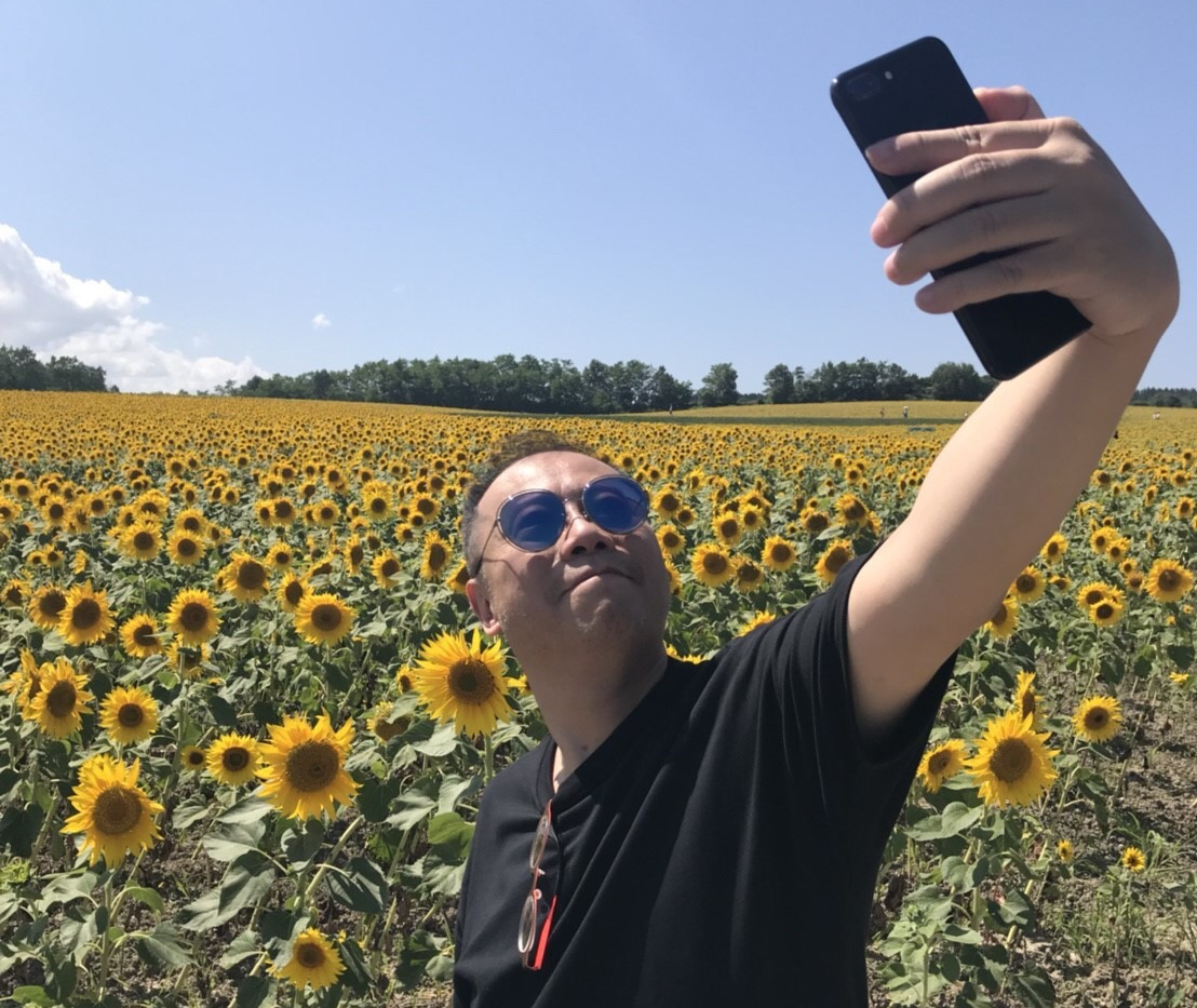 Sunflower fields in Sapporo, Japan August 2018