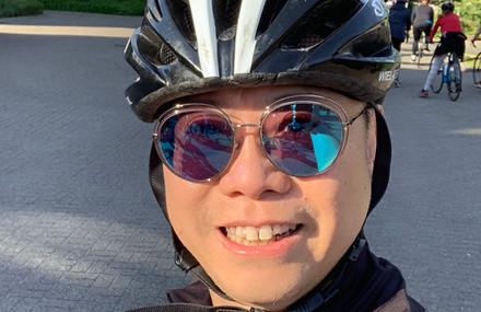 Cycling in Noordwijk, Netherlands May 2019