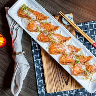 Lemon Pepper Salmon Sashimi