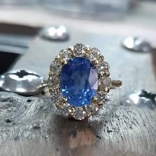Tanzanite classic engagement ring.