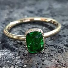Tsavorite Engagement Ring.