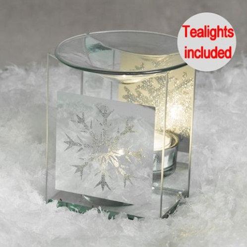 Silver snowflake wax warmer