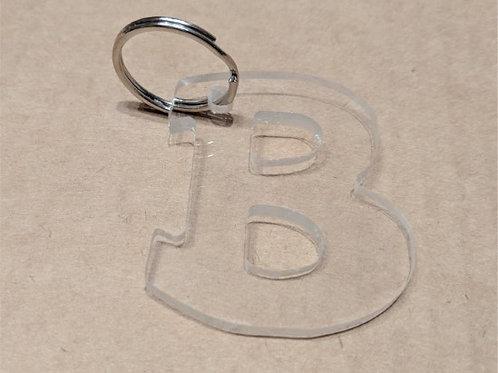 Brummies clear acrylic keyring