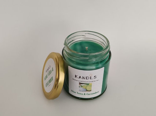 Aloe Vera & Cucumber candles & tealights