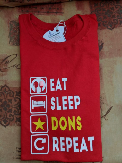 Eat, Sleep, DONS, Repeat t-shirt