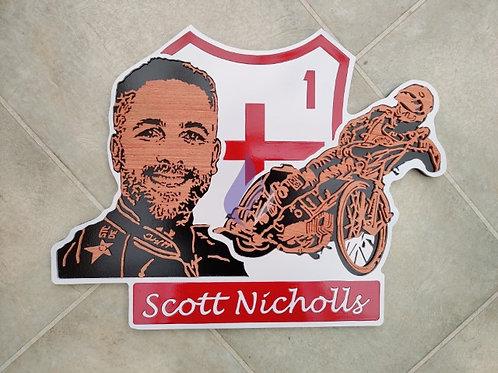 Scott Nicholls race jacket / portrait / action