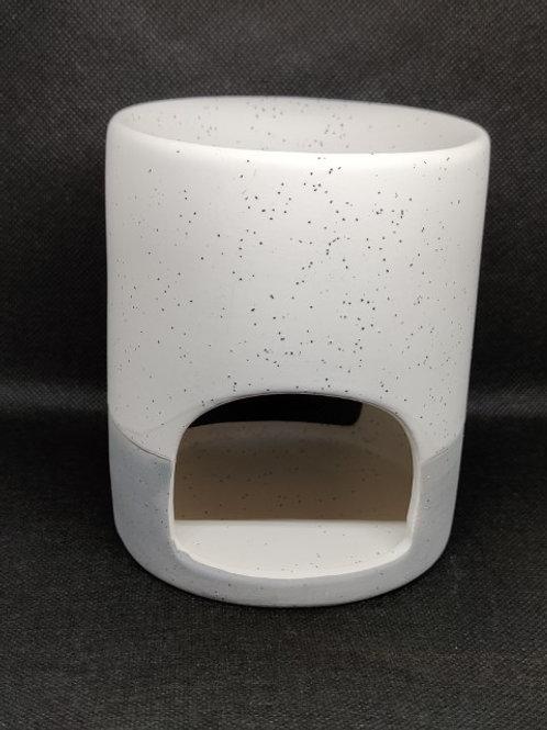 Grey + White ceramic wax warmer