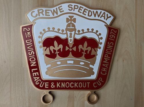 Crewe 1972 Double Winners Badge