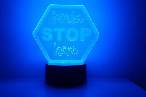 LED Santa STOP Here LED light