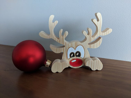 Christmas reindeer ornament