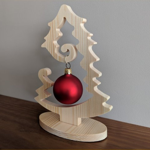 Pine Xmas tree ornament / table centrepiece