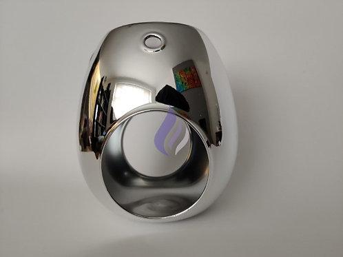 Silver electroplated wax warmer