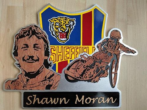 Shawn Moran race jacket / portrait / action