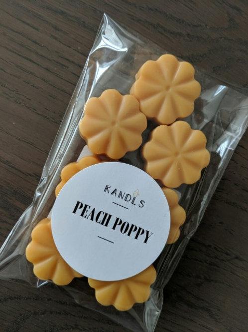 Peach Poppy melts