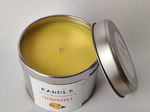 Citronella outdoor tin