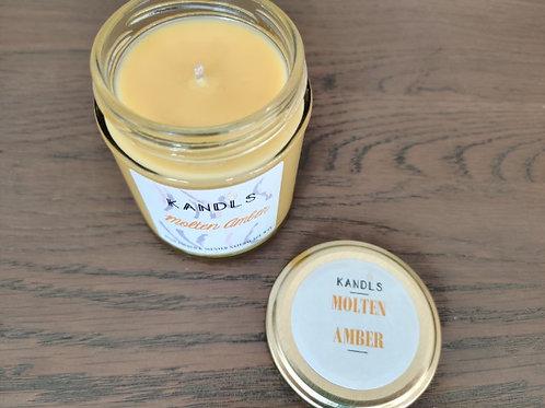 Molten Amber candles & tealights