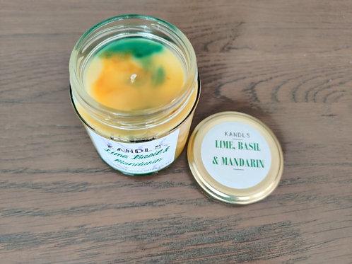 Lime, Basil & Mandarin candles & tealights