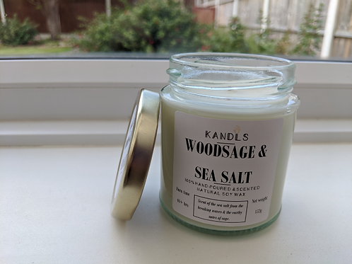 Woodsage & Sea Salt candles & tealights