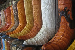 authentic western cowboy boot leather