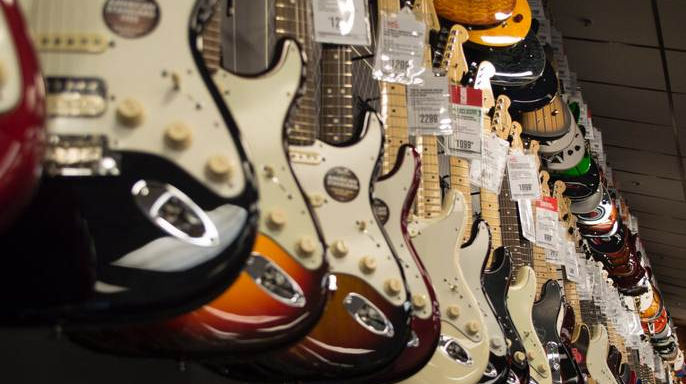 huge selection of electric guitars