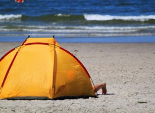 Colorful Beach Shade Tents