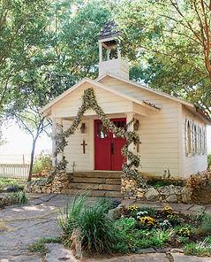 vintage rustic wedding chapel wedding garland outdoor wedding ceremony