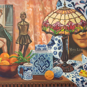 Cultural Collection in Blue and Orange