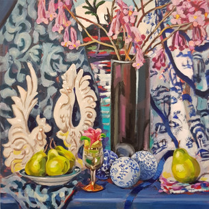 Tabebuia Flowers and Pears