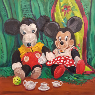 Knitted Mickey's Tea Party