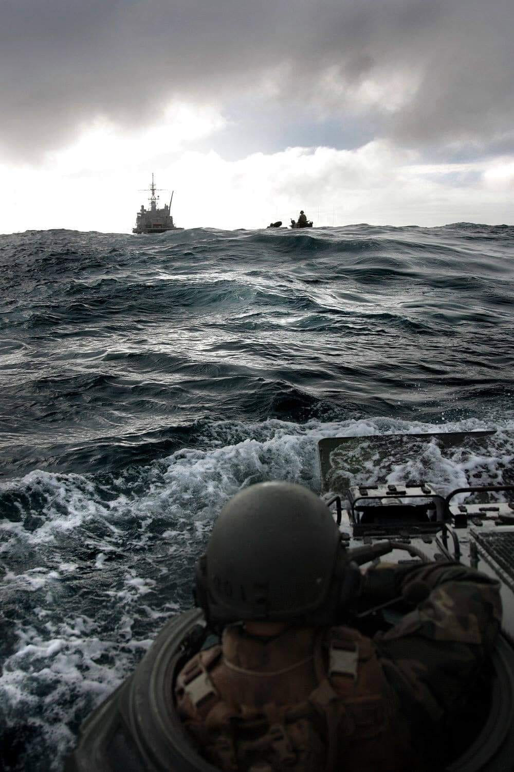 Cody Bledsoe submitted this photo from a training exercises in the North Sea in 2015.