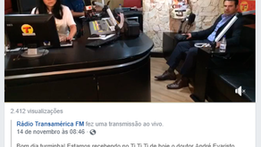 Rádio Transamérica – Programa TI TI TI – LIVE (Novembro de 2018)