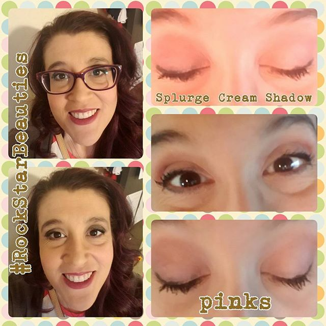 Splurge Cream Shadow look in pinks! #Younique #RockStarBeauties #Bittersweet #hopeful