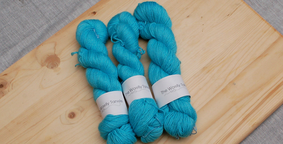 Blue poppy - Alpaca, cashmere & silk 4ply
