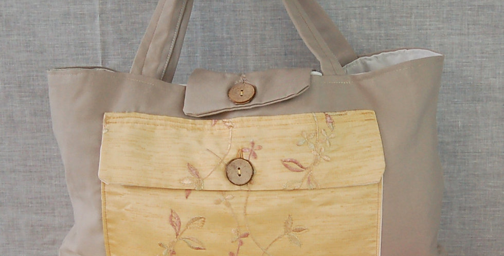 Clearance large project bag - gold pocket