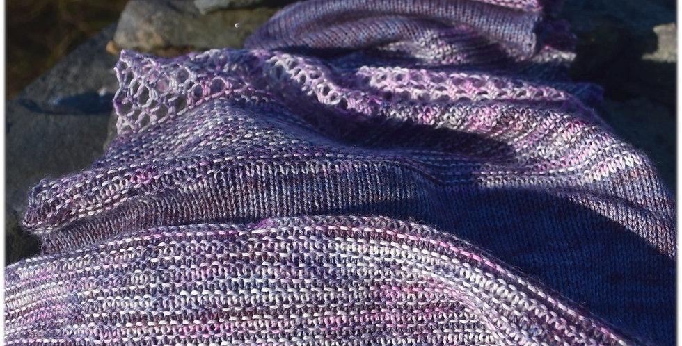 Broken light shawl kit in merino bamboo 4 ply