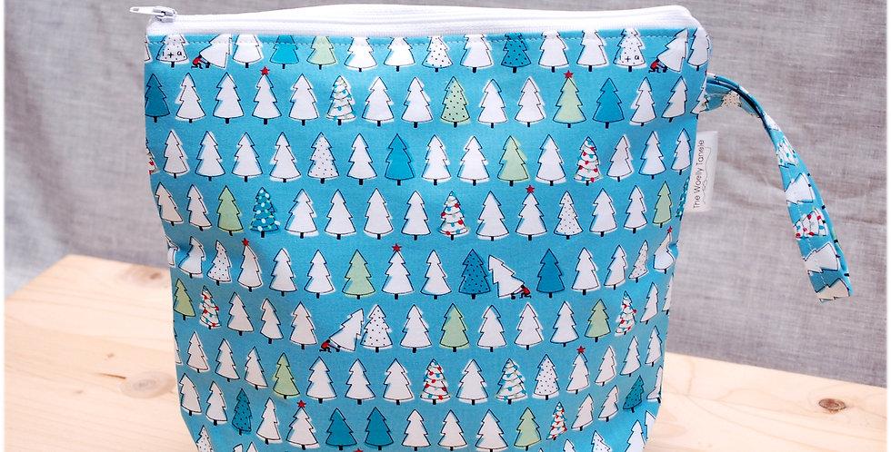 Medium project bag - christmas trees