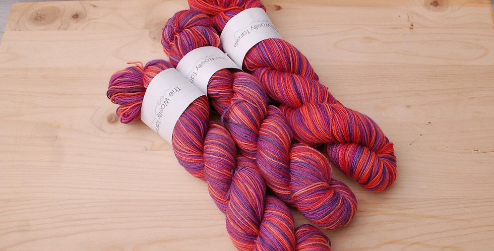 Clearance - Merino nylon sock/4ply summer pudding