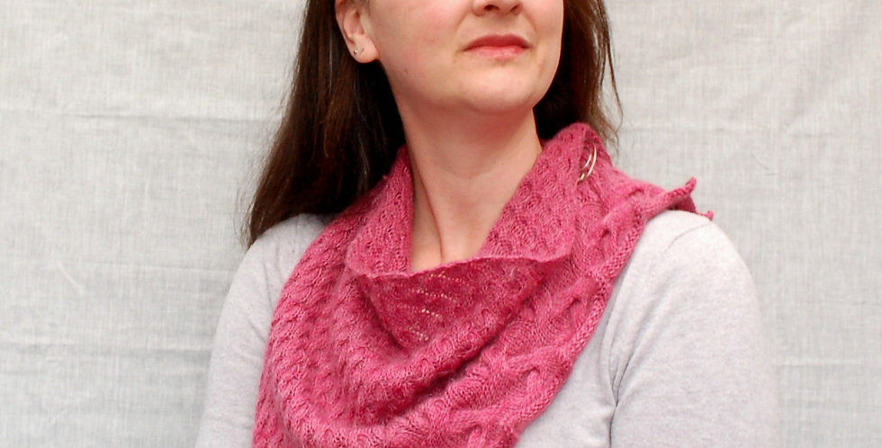 Intertidal shawl kit in 4 ply - mohair sock
