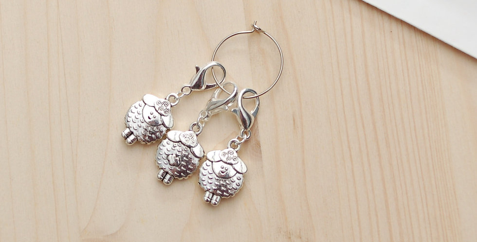 Removable crochet stitch markers - fat sheep