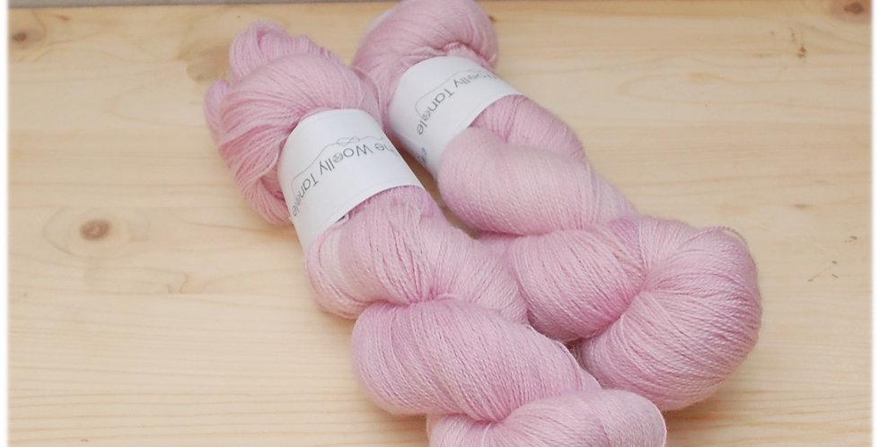 Soft mallow - laceweight merino bamboo yarn