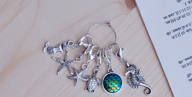 Removable crochet stitch markers - mermaid