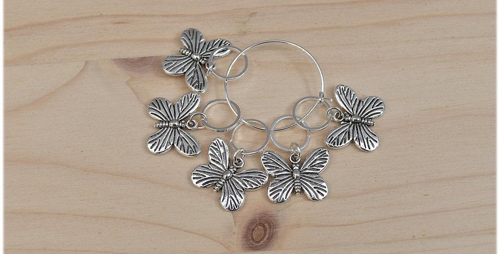 Knitting stitch markers - butterflies