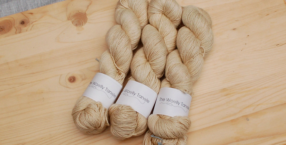 Oatmeal - Alpaca, cashmere & silk 4ply