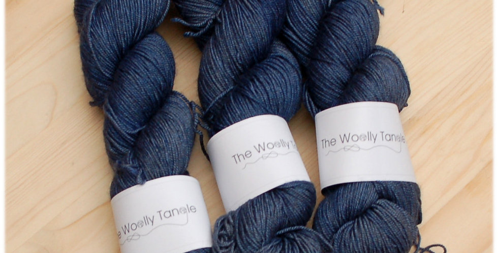 Blue yak - merino yak silk yarn