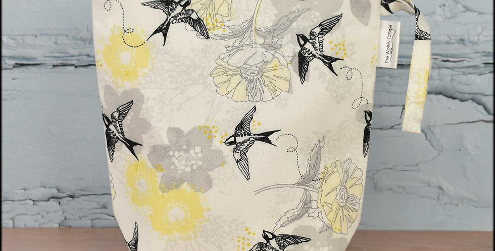 Sock project bag - swallows