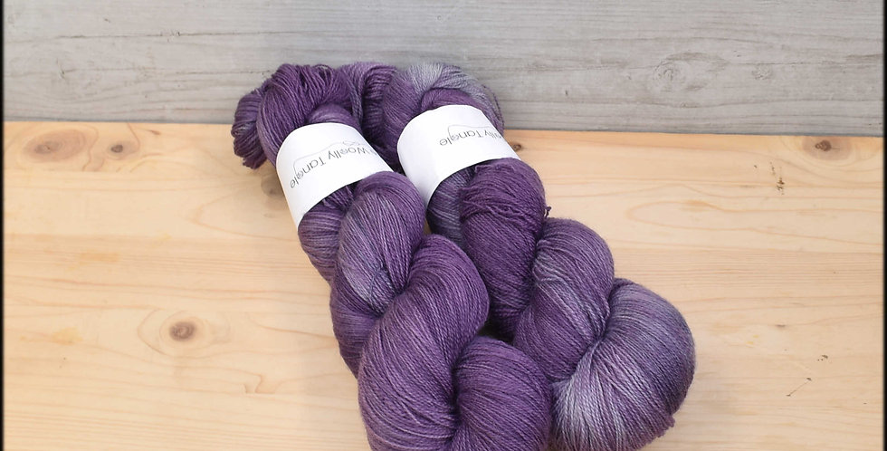 Damson - laceweight blue faced leicester yarn