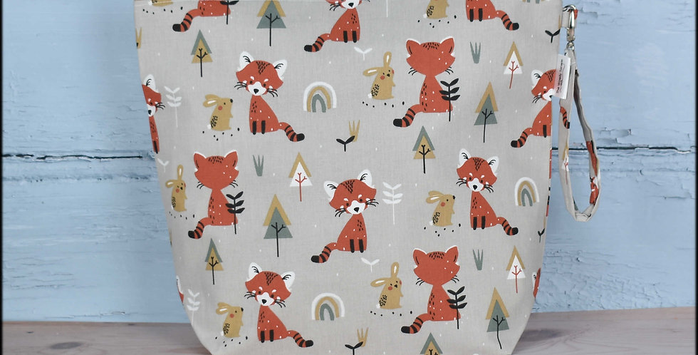 Large project bag - foxy friends