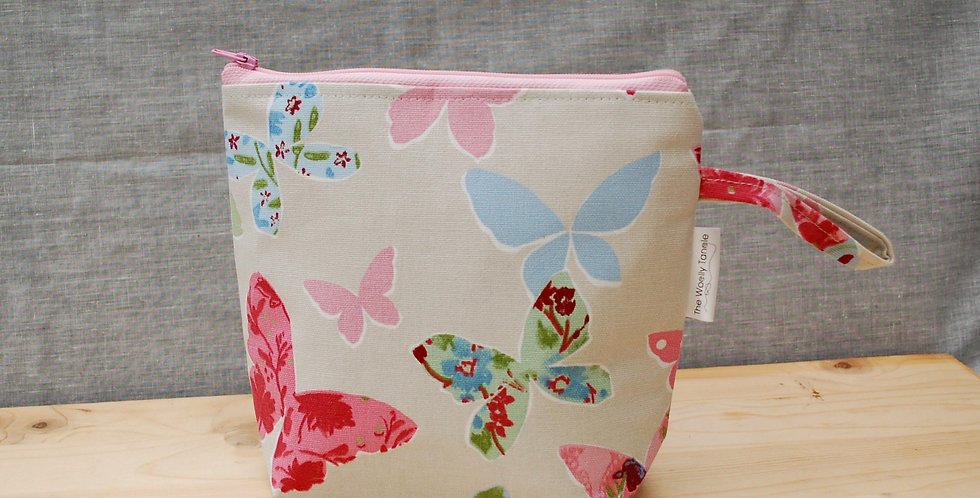 Mini project bag -butterflies