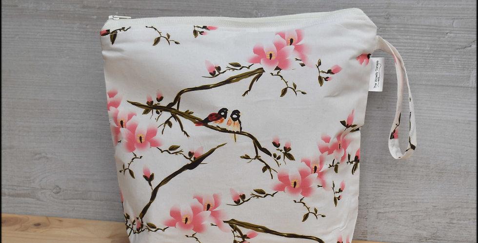 Medium project bag - spring blossom